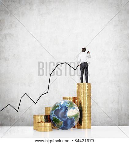 Businessman Drawing Chart