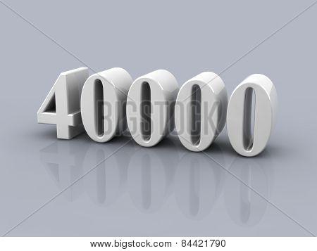 Number 40000