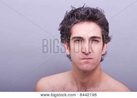 Man With Angry Facial Expression