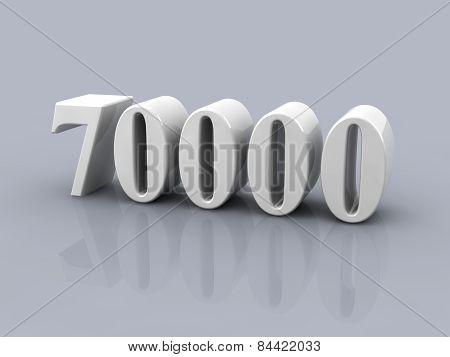 Number 70000