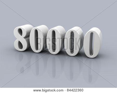Number 80000