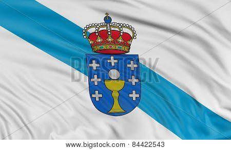 3D Galicia flag