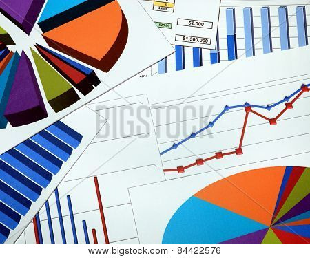 Paper Print Out Graphs And Charts Report