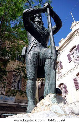 Soldier statue, Gibraltar.