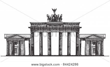 Germany vector logo design template. monument or architecture icon.