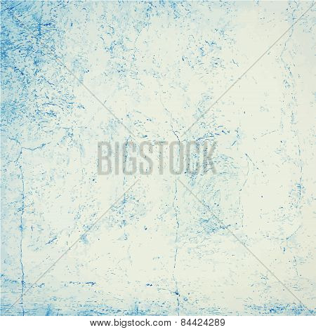 Blue grunge concrete wall texture or background.