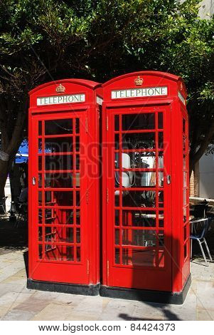 British telephone boxes, Gibraltar.