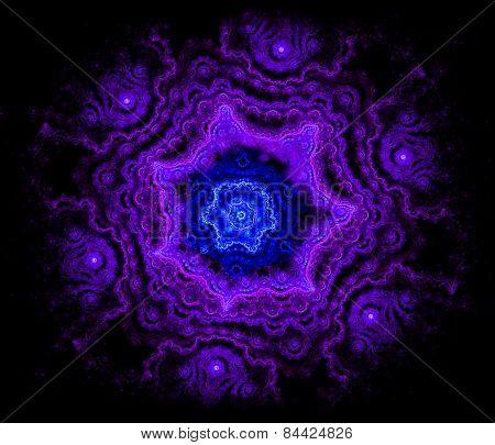 Purple pattern in the shape of purple snowflakes