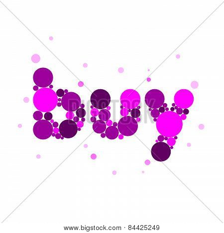 Vector Icon Buy From Purple Circles