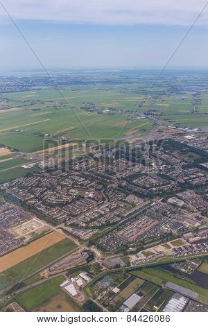 Aerial Scenery Of The Residential Area At Amsterdam