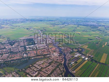 Aerial Vista Of The Residential Area At Amsterdam
