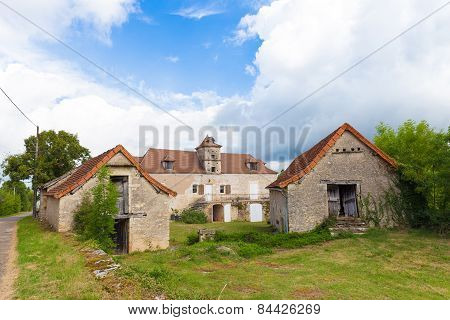 Typical French Country Home With Barns