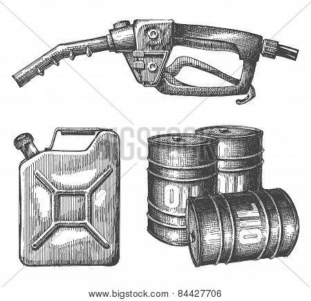 gasoline vector logo design template. petroleum or crude oil icon.