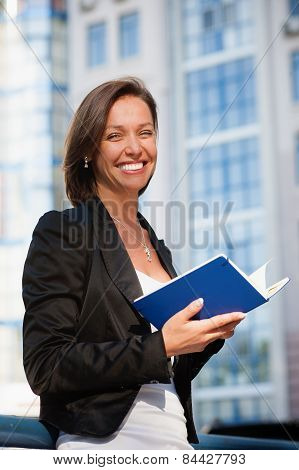 Business woman with diary