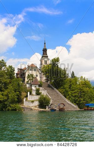 Bled Lake And Church Of Saint Mary