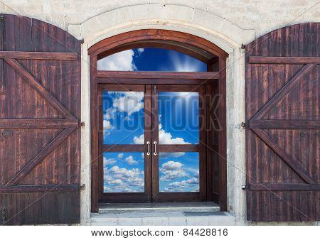 Door With Shutters