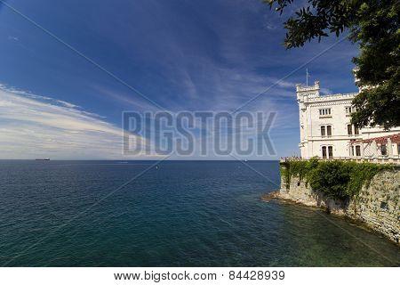 Miramare Castle And The Sea