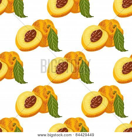 Seamless pattern with peachs