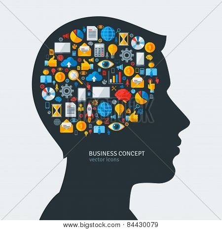 Creative concept of Business Development. Vector illustration.