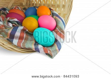 egg in rattan basket