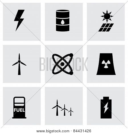 Vector Black Energetics Icon Set