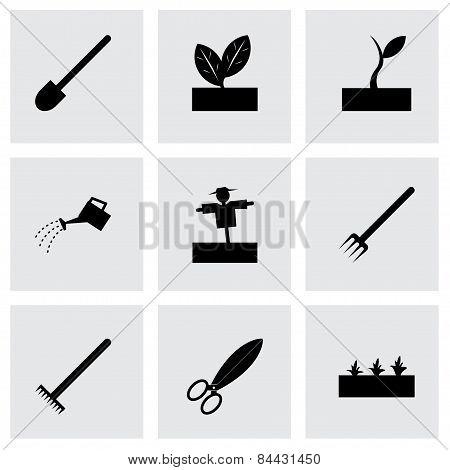 Vector Black Farming Icon Set
