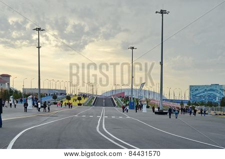 Main pedestrian road to Sochi adventure park