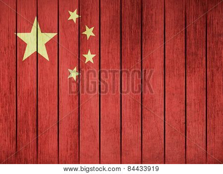 Wooden Flag Of China