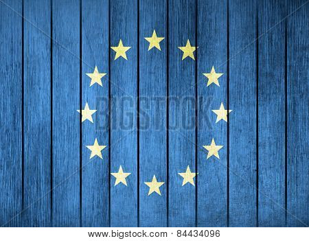 Wooden Flag Of Europa