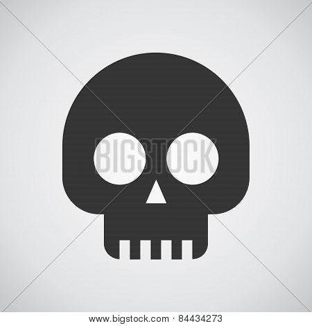 Skulls Icon On Grey Background