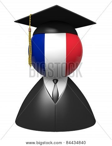 France college graduate concept for schools and academic education