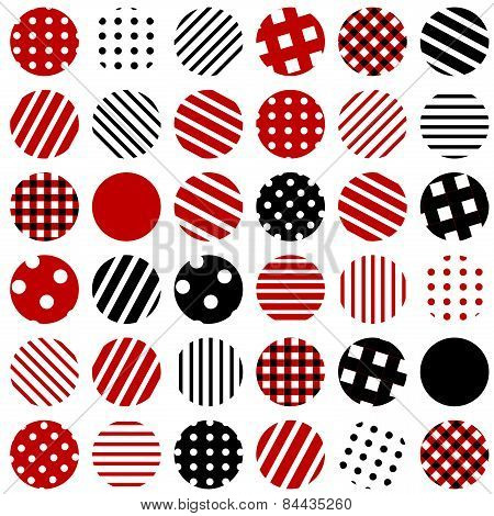 Patterned Circles Background