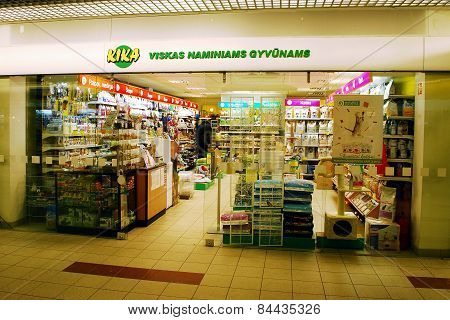 Kika Shop In Capital Of Lithuania Vilnius City Seskine District