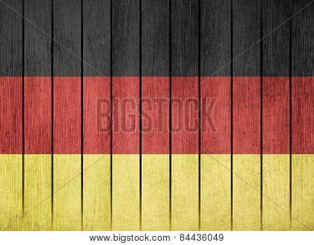 Wooden Flag Of Germany