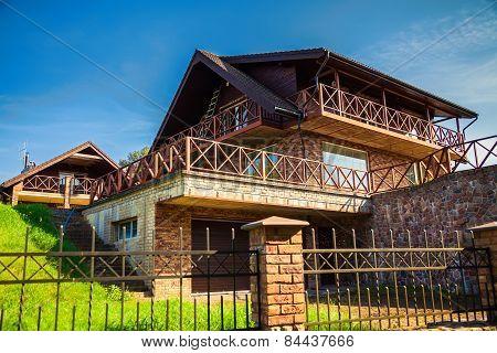 Facade Of A Modern New Family House