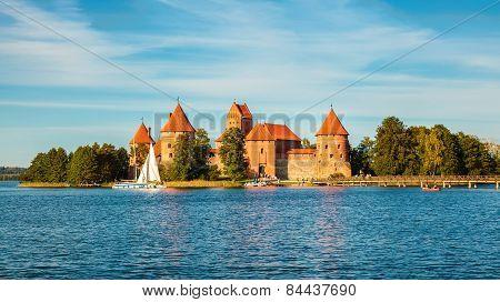 Well-known Trakai Castle