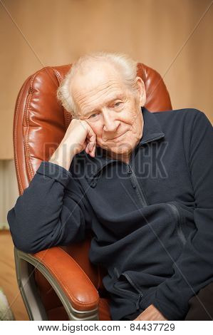 Old Man With A Head Reclined Upon His Hand