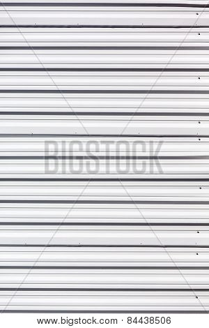 White Painted Corrugated Metal
