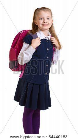 the girl in a school uniform