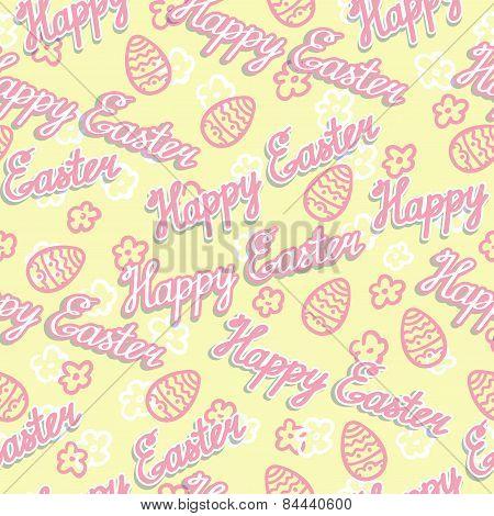 Seamless Easter Background. Vector Illustration.