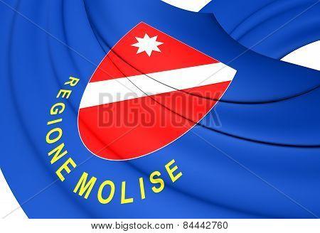 Flag Of Molise, Italy.