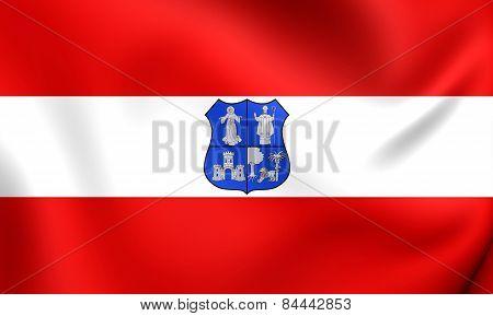 Flag Of Asuncion, Paraguay.