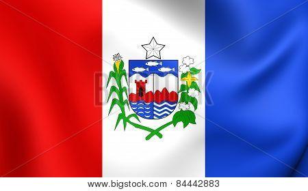 Flag Of Alagoas, Brazil.