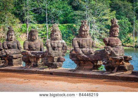 Face. Angkor Wat/ Angkor Thom. Cambodia