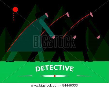Detectives investigating at night