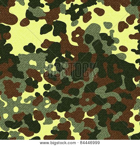 Camouflage seamless pattern with texture