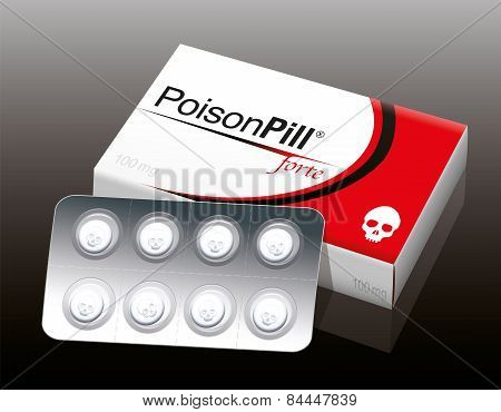 Poison Pill Blister Package Skull