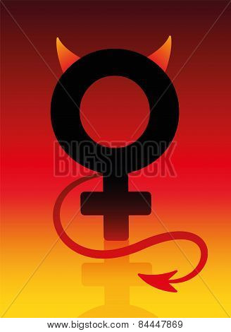 Female Devil Bad Girl Sign
