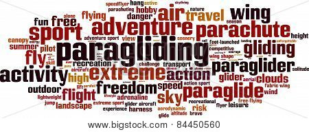 Paragliding Word Cloud