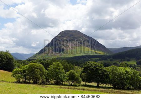 Mountains in countryside near Loweswater Lake District Cumbria England UK